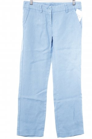 United Colors of Benetton Leinenhose kornblumenblau Casual-Look
