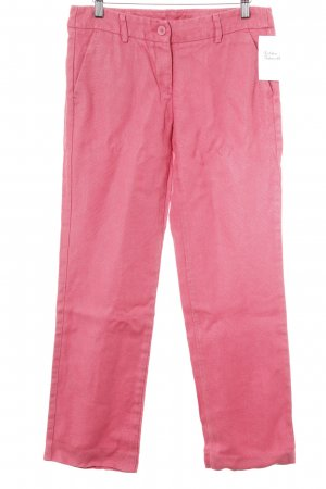 United Colors of Benetton Leinenhose magenta Casual-Look