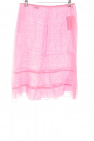 United Colors of Benetton Linen Skirt pink casual look
