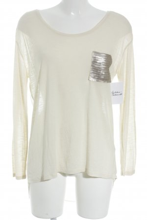 United Colors of Benetton Longsleeve cream-silver-colored flecked wet-look