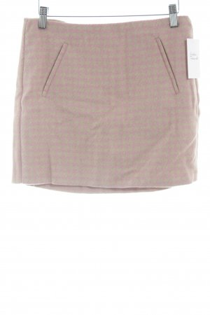 United Colors of Benetton Minirock beige-rosé Hahnentrittmuster