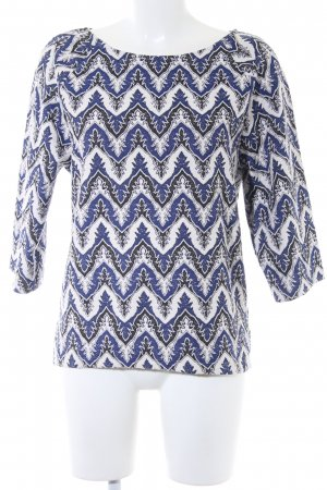 United Colors of Benetton Oversized Pullover abstraktes Muster Casual-Look