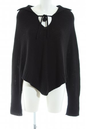 United Colors of Benetton Poncho schwarz Casual-Look