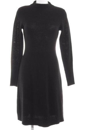 United Colors of Benetton Robe pull noir style décontracté