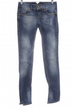 United Colors of Benetton Tube jeans staalblauw casual uitstraling