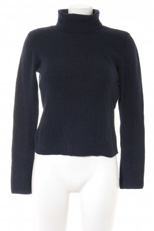 United Colors of Benetton Turtleneck Sweater dark blue classic style