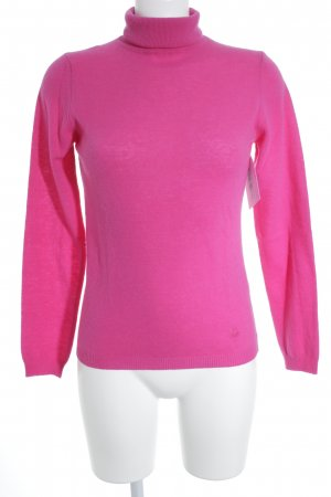 United Colors of Benetton Turtleneck Sweater magenta casual look