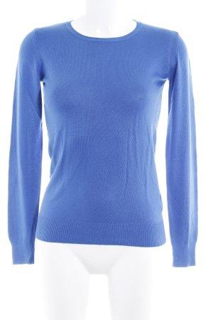 United Colors of Benetton Rundhalspullover blau Casual-Look
