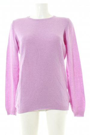 United Colors of Benetton Rundhalspullover pink Casual-Look