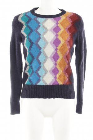 United Colors of Benetton Rundhalspullover Zackenmuster Casual-Look