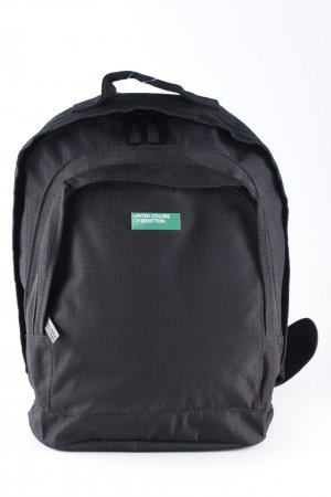 United Colors of Benetton Schulrucksack schwarz Karomuster College-Look