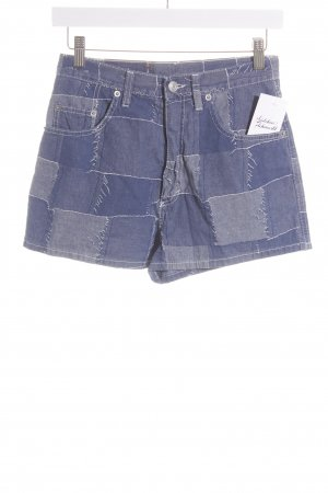 United Colors of Benetton Shorts blau-hellblau Karomuster Casual-Look