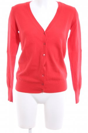 United Colors of Benetton Strick Cardigan rot Business-Look