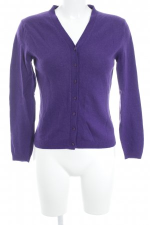 United Colors of Benetton Strick Cardigan dunkelviolett Casual-Look