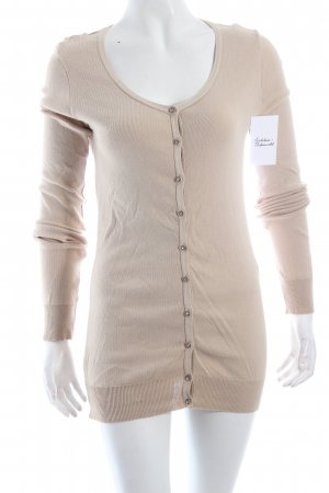 United Colors of Benetton Strick Cardigan hellbeige klassischer Stil