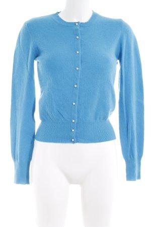 United Colors of Benetton Strick Cardigan hellblau klassischer Stil