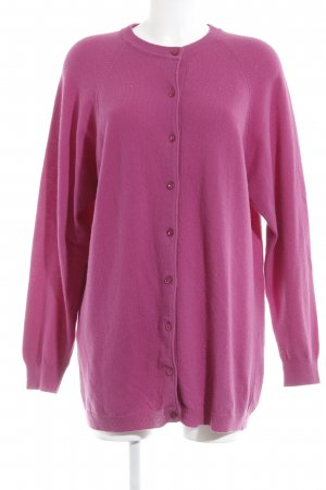 United Colors of Benetton Strick Cardigan magenta Casual-Look
