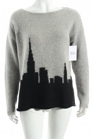 United Colors of Benetton Strickpullover grau-schwarz Kuschel-Optik