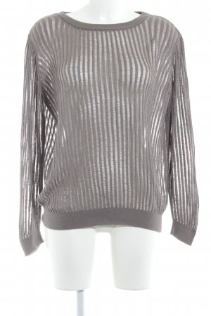 United Colors of Benetton Strickpullover hellbraun Lochstrickmuster Casual-Look