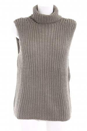 United Colors of Benetton Knitted Top grey brown fluffy