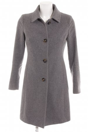 United Colors of Benetton Trenchcoat grau meliert Casual-Look