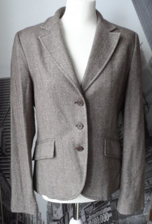 UNITED COLORS OF BENETTON Tweed Blazer Gr. 46 (Ital.) 40 Graubraun wenig getragen