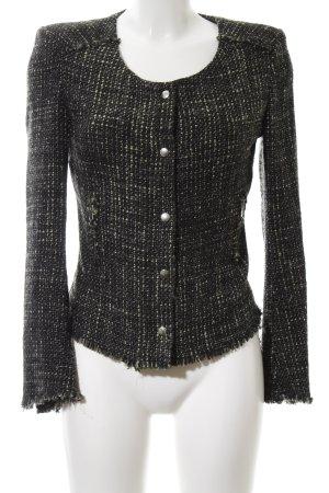 United Colors of Benetton Tweed Blazer black-cream flecked business style