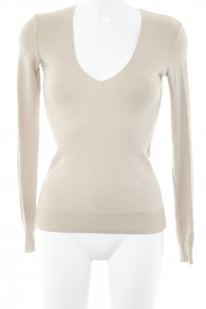 United Colors of Benetton V-Ausschnitt-Pullover hellbeige Casual-Look