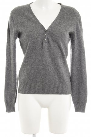 United Colors of Benetton V-Neck Sweater light grey casual look