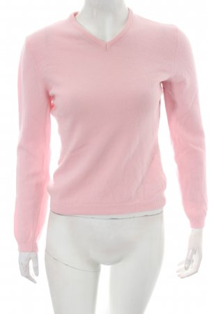 United Colors of Benetton V-Ausschnitt-Pullover rosa Business-Look