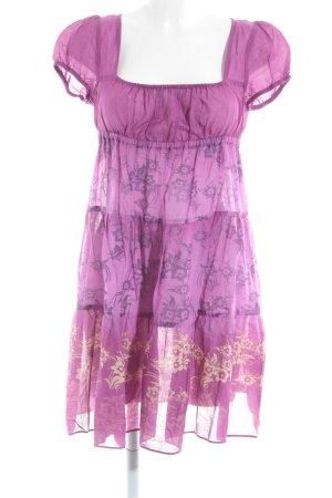 United Colors of Benetton Volantkleid magenta-lila florales Muster Romantik-Look