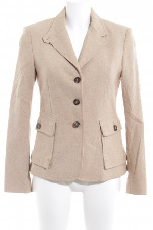 United Colors of Benetton Woll-Blazer creme-beige Business-Look
