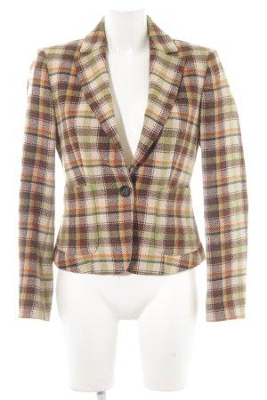 United Colors of Benetton Blazer de lana estampado a cuadros look casual