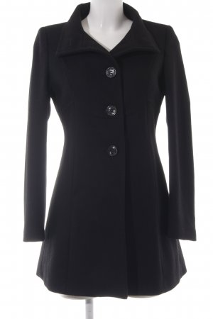 United Colors of Benetton Wool Coat black classic style