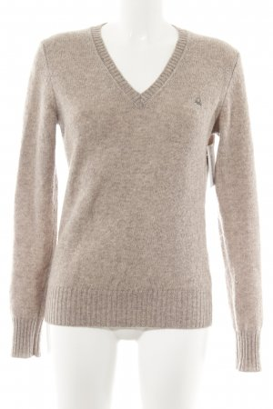 United Colors of Benetton Wollpullover hellbraun Casual-Look