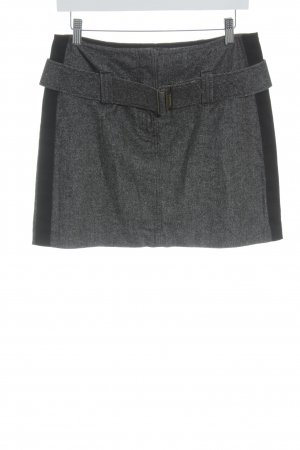 United Colors of Benetton Jupe en laine noir-gris style décontracté
