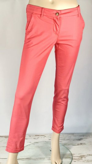 United Colors of Benetton Pantalone chino salmone-rosso mora Cotone