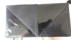United nude Clutch black leather