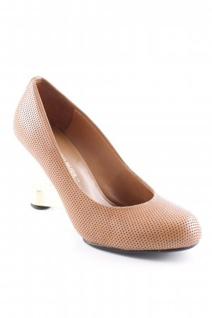 United nude High Heels light brown-gold-colored party style