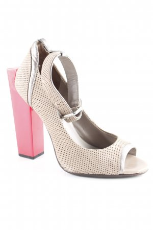 United nude Platform Pumps grey brown-raspberry-red business style