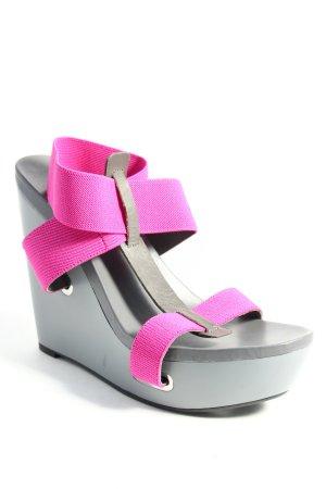 United nude Sandales à talons hauts et plateforme gris-violet style extravagant