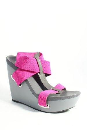 United nude Platform High-Heeled Sandal grey-violet extravagant style