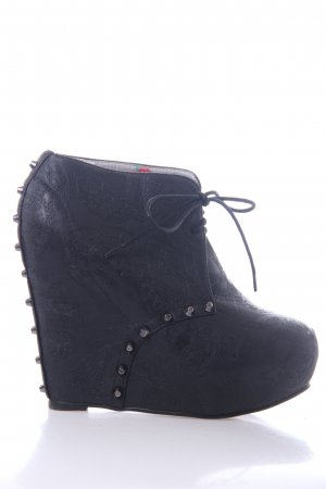 Platform Booties black imitation leather