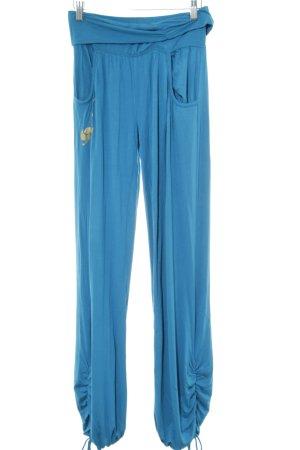 Unlimited Stoffhose blau Motivdruck Casual-Look