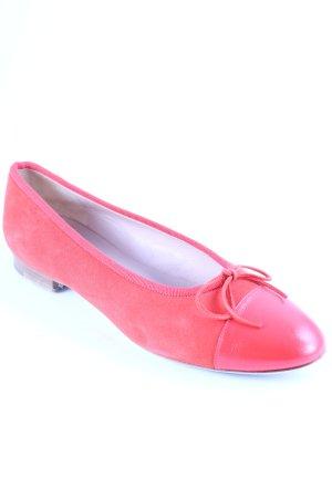 unnützer Ballerinas mit Spitze rot Elegant
