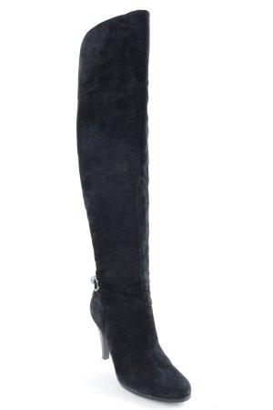 Uno Kniehoge laarzen zwart straat-mode uitstraling
