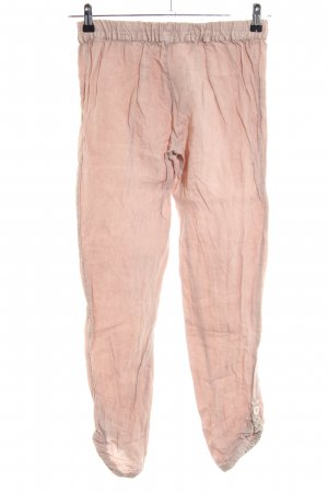 Uno Piu Uno Linnen broek roze casual uitstraling