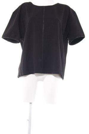 UNQ Kurzarm-Bluse schwarz Casual-Look