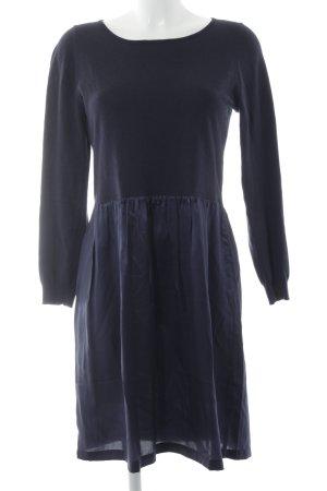 UNQ Langarmkleid dunkelblau-stahlblau Elegant
