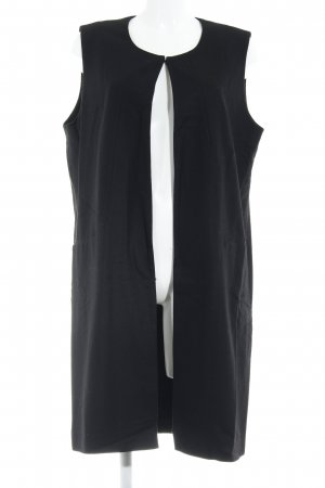 UNQ Long Knitted Vest black casual look